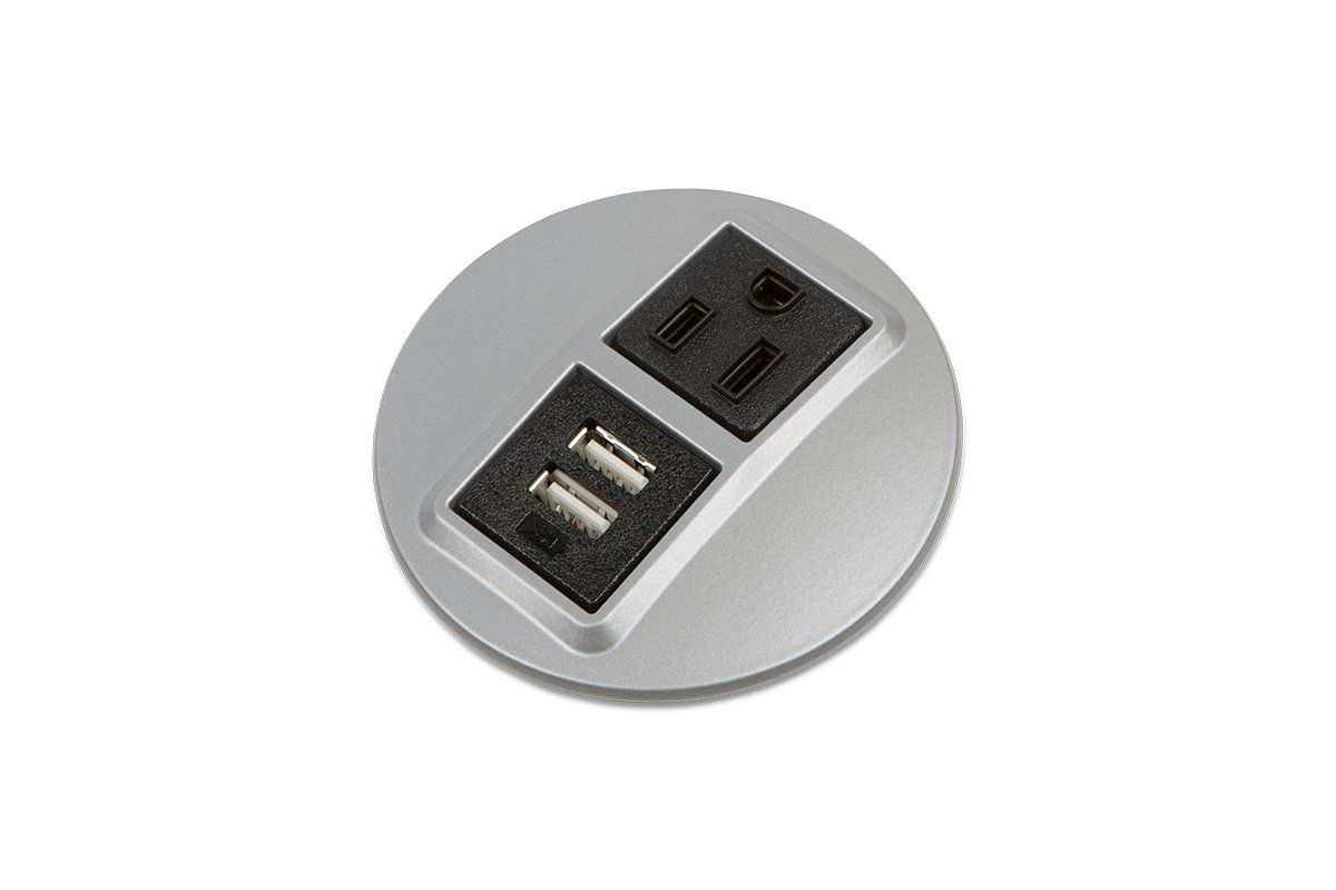 Round Recessed Power Grommet Electric Usb Usb Electricity Power