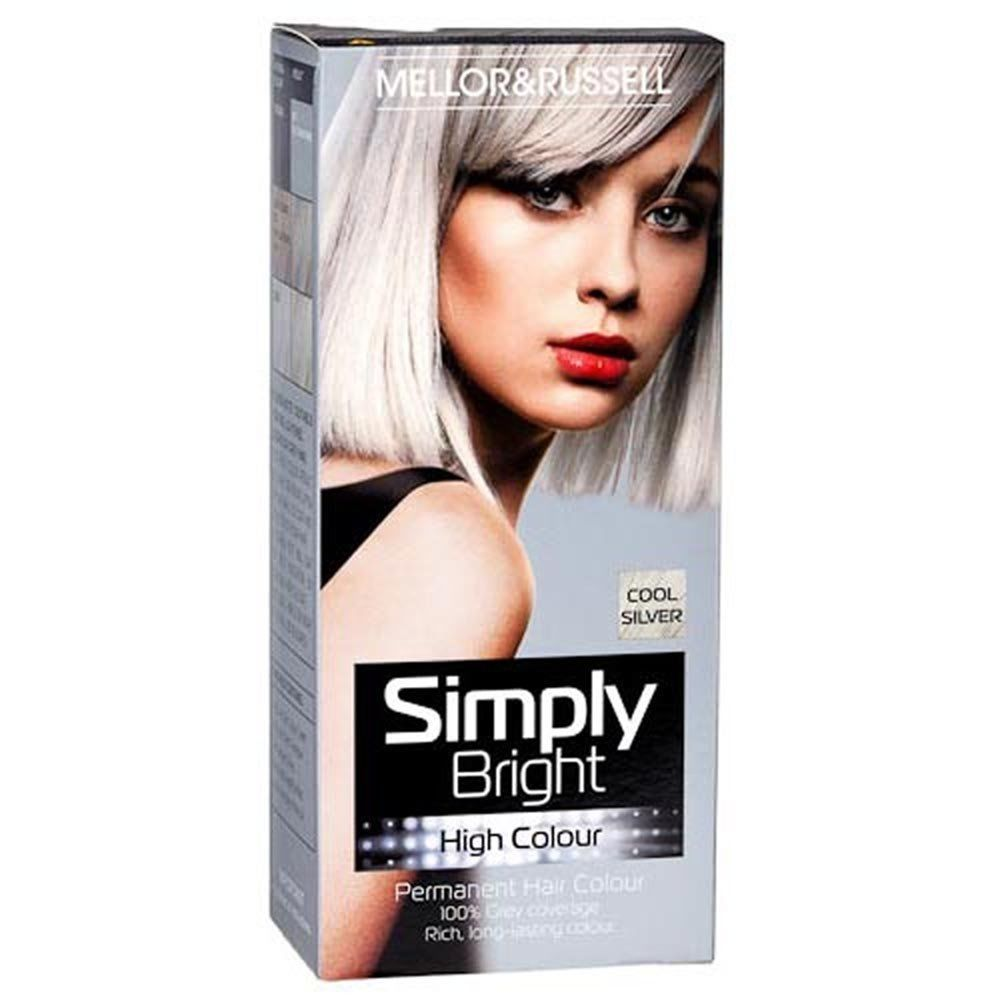 2 X Mellor Russell Simply Bright Hair Colour Silver Permanent Hair