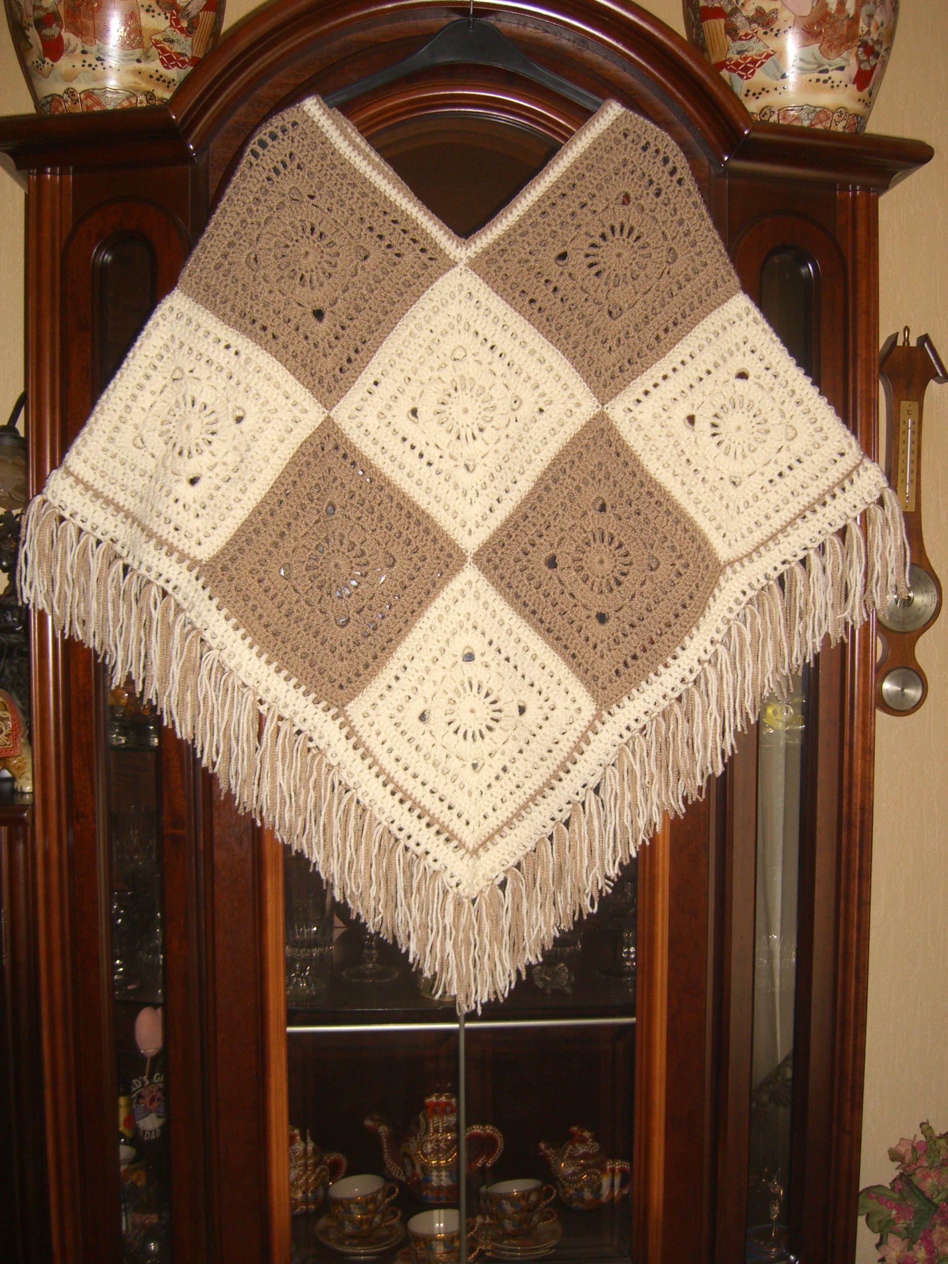 Celtic Rose Poncho Haken Breien Pinterest Crochet Poncho