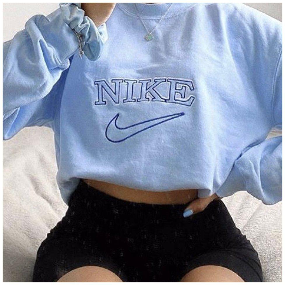 Vintage Baby Blue Nike Sweatshirt Not Sure If I Depop Baby Blue Pullover Babybluepull In 2021 Vintage Nike Sweatshirt Nike Sweatshirts Vintage Nike Sweater [ 977 x 977 Pixel ]