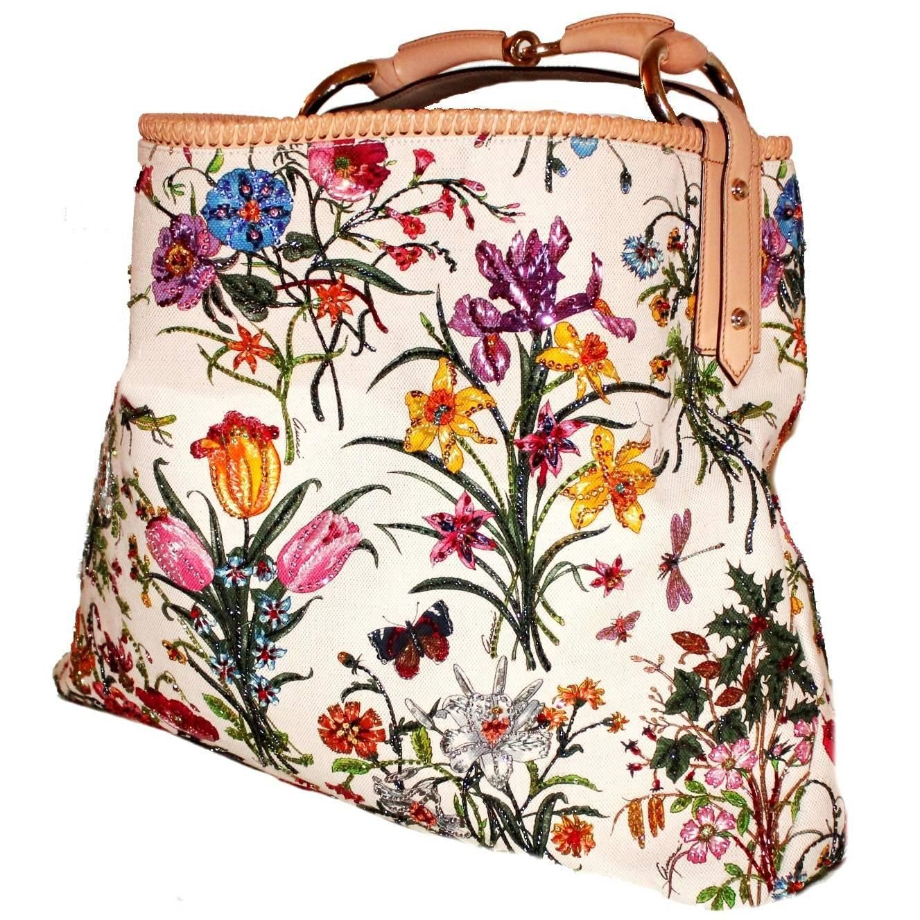 Gucci By Tom Ford Embroided Horsebit Bag znhuAW0