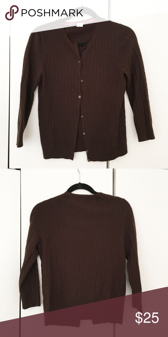 Jcrew chocolate brown cardigan sweater Deep brown Jcrew cardigan ...