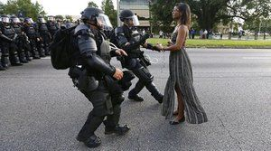 woman dress black live matter