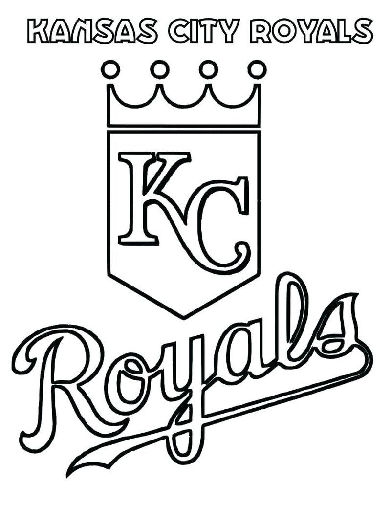 Make Your Kids Creative With Baseball Coloring Pages Baseball Coloring Pages Kansas City Royals Logo Kc Royals