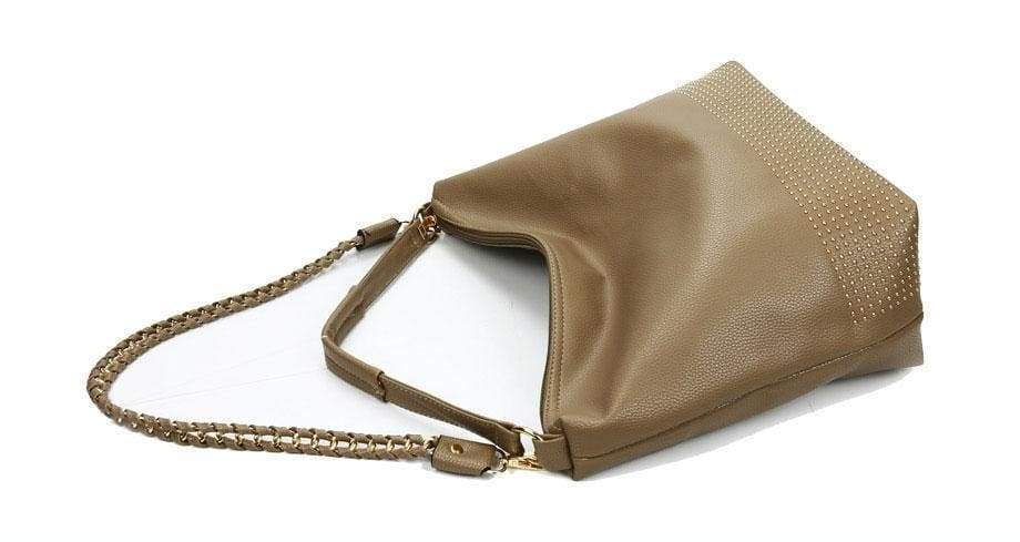 cc35f2bf9894 Famous Brand Hobos Women Bags Rivet Female Handbags Shoulder Bag Lady Big  Handbag Soft Leather Tote