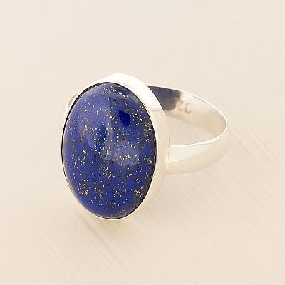 Sterling Lapis Lazuli Oval Ring