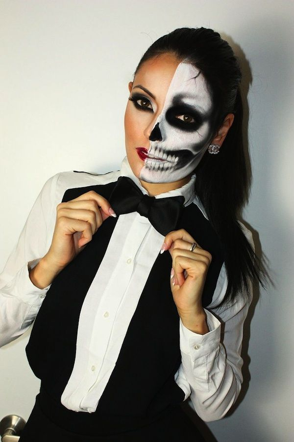 Beautiful Skeleton Halloween Make Up Contemporary - harrop.us ...