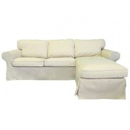 IKEA Ektorp loveseat with chaise slipcover Ektorp loveseat chaise cover Knesting  sc 1 st  Pinterest : ektorp chaise cover - Sectionals, Sofas & Couches
