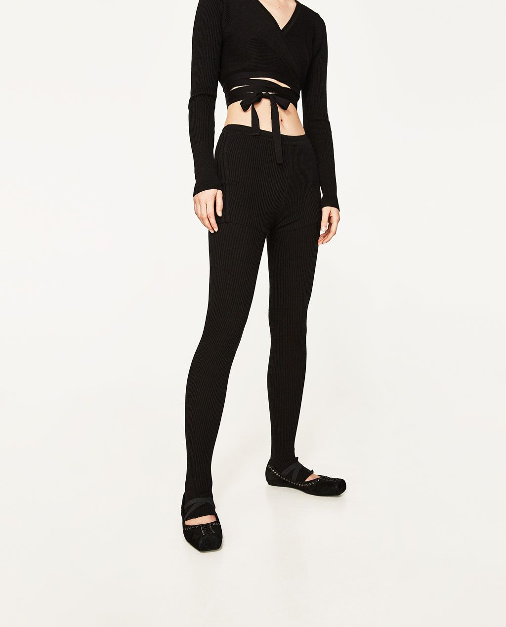 38518f06 Image 2 of LEGGINGS WITH BALLERINA FOOT STRAPS from Zara | knits ...