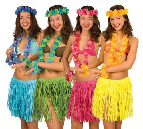 Mens Hawaiian Beach Party Stag Night Fancy Dress Costume Jupe Lei Accessories