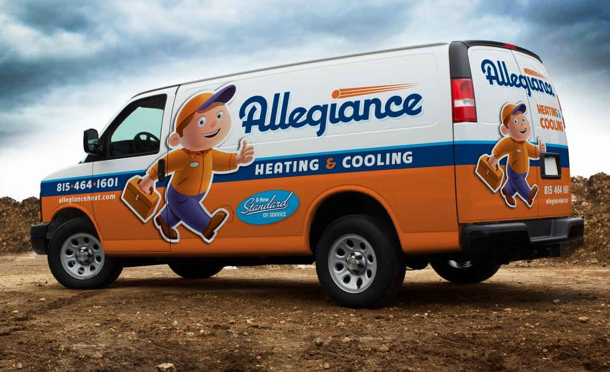 Allegiance Heating Cooling Kickcharge Creative Car Wrap Car
