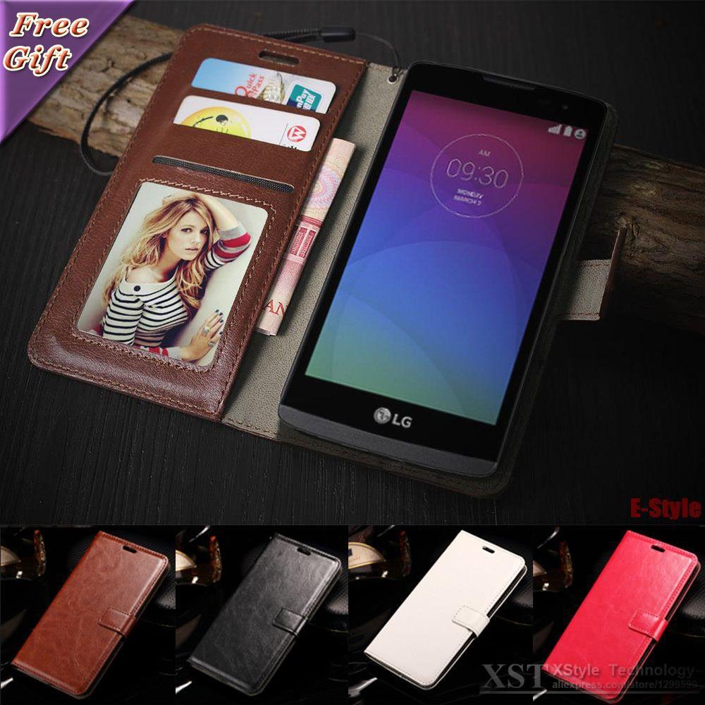 레트로 플립 전화 케이스 lg leon h340n h320 h324 lg g2 g3 lg g4 g5 lg k10 case pu 가죽 커버 사진 프레임 지갑 가방
