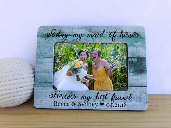 Maid Of Honor Frame Maid Of Honor Gift Sister In Law Gift Sister In