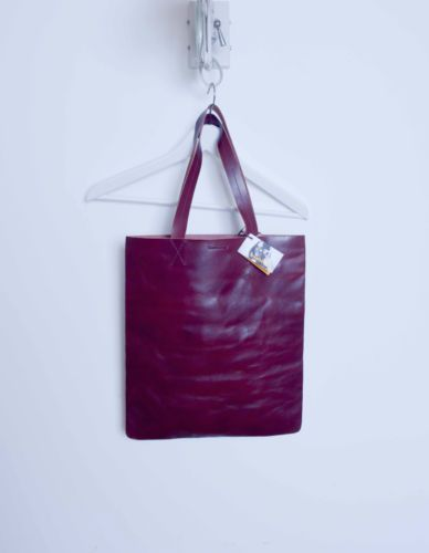 SWEEDISH-HASBEENS-BAG-FOR-LIFE-Echtleder-NEU-mit-Etikett-burgundy