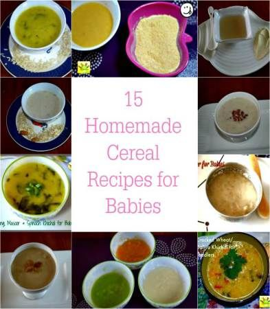 15 homemade cereal recipes for babies babies pinterest baby wholesome baby food recipes 6 to 9 months baby recipes weaning food for months old baby no salt no sugar recipes for baby indian baby food forumfinder Images