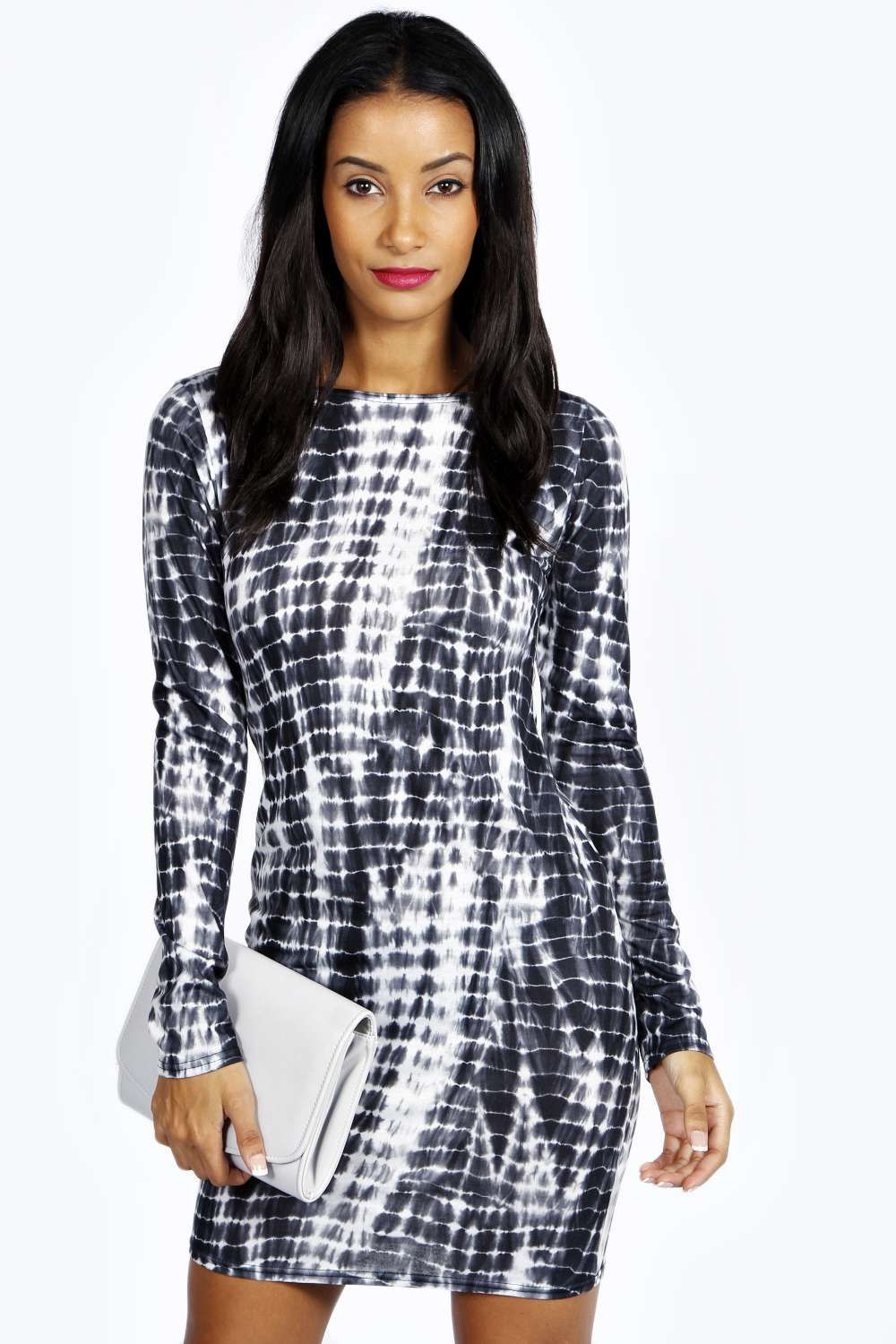 Kate Smudge Print Long Sleeve Bodycon Dress alternative image