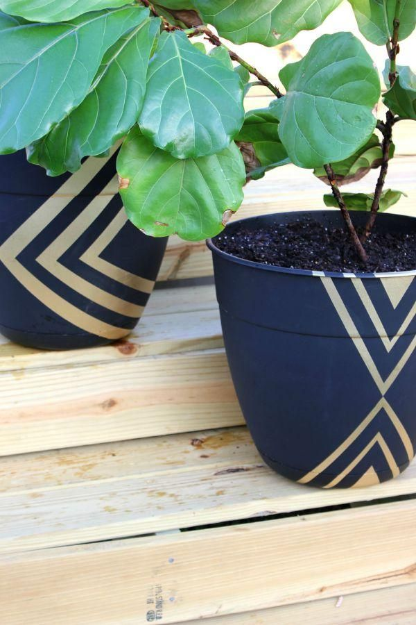 Diy Modern Planters Plant Pot Diy Painted Plant Pots Painted Flower Pots