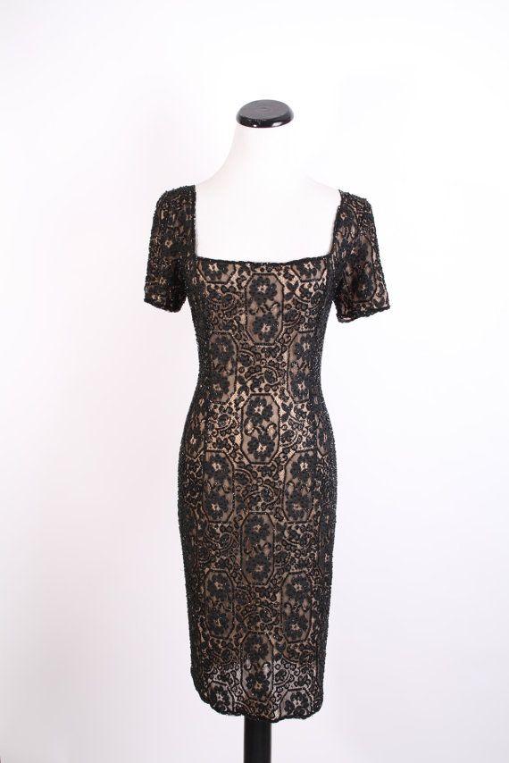 Sequin Dress / Sequin / Sequins / Vintage Lace / Lace par aiseirigh, $333,00