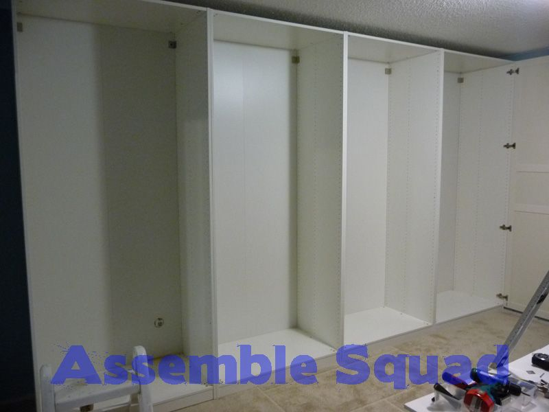 Ikea pax wardrobe system assembly and installation ikea 39 s pax wardrobe pinterest pax - Installation armoire ikea ...