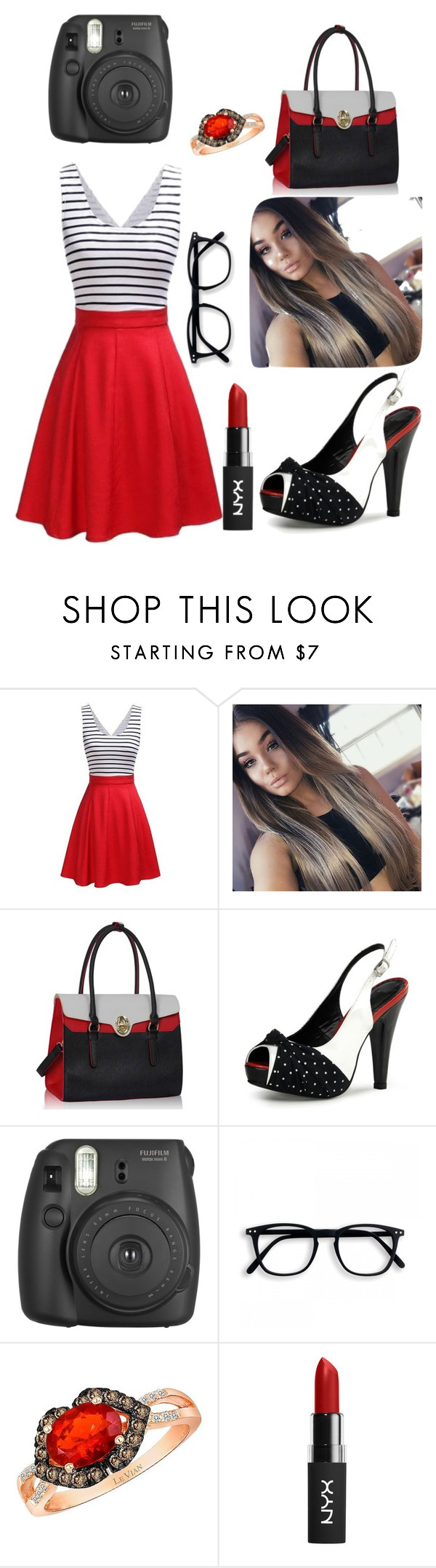 """Im real (smile honey)"" by ashleynicole22 ❤ liked on Polyvore featuring Fujifilm and LE VIAN"