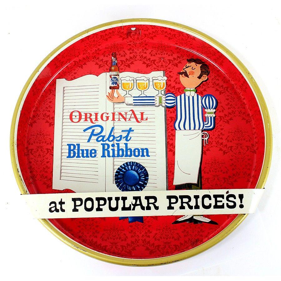 Pabst Blue Ribbon Tray Sign