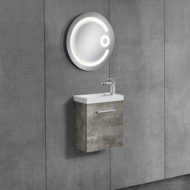 neuhaus Badezimmerschrank mit Waschbecken+Spiegel neuhaus - badezimmerschrank mit waschbecken