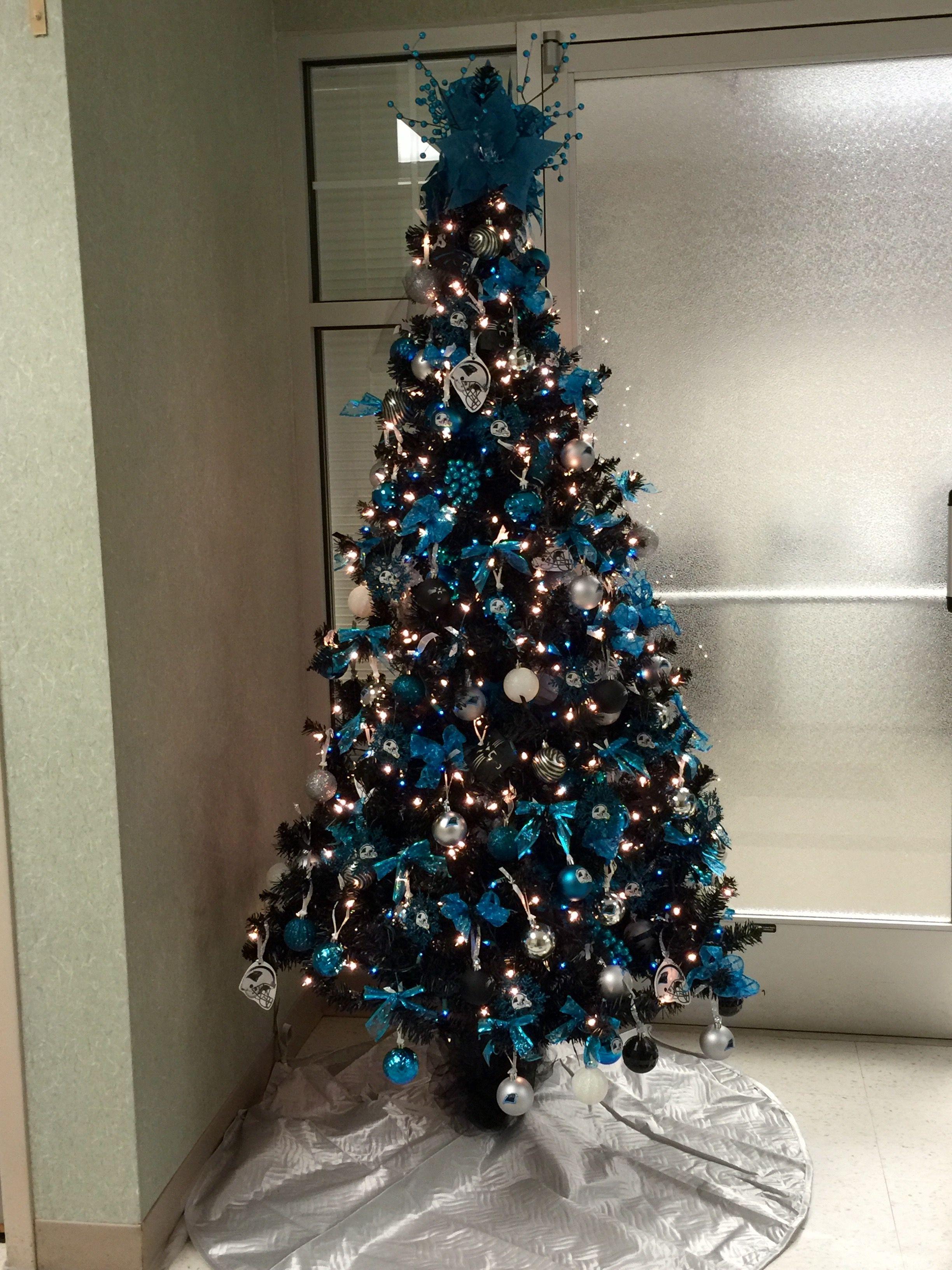 Carolina Panthers Christmas Tree KeepPounding merry