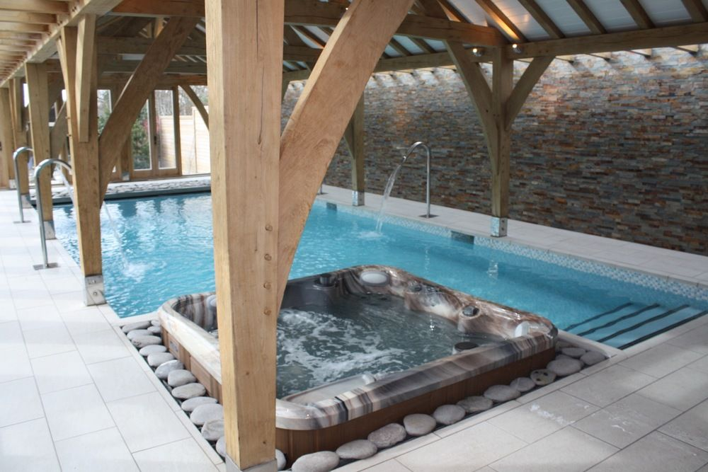 Heated Pool With Jacuzzi Indoor Swimming Pools Pool Swimming Pools