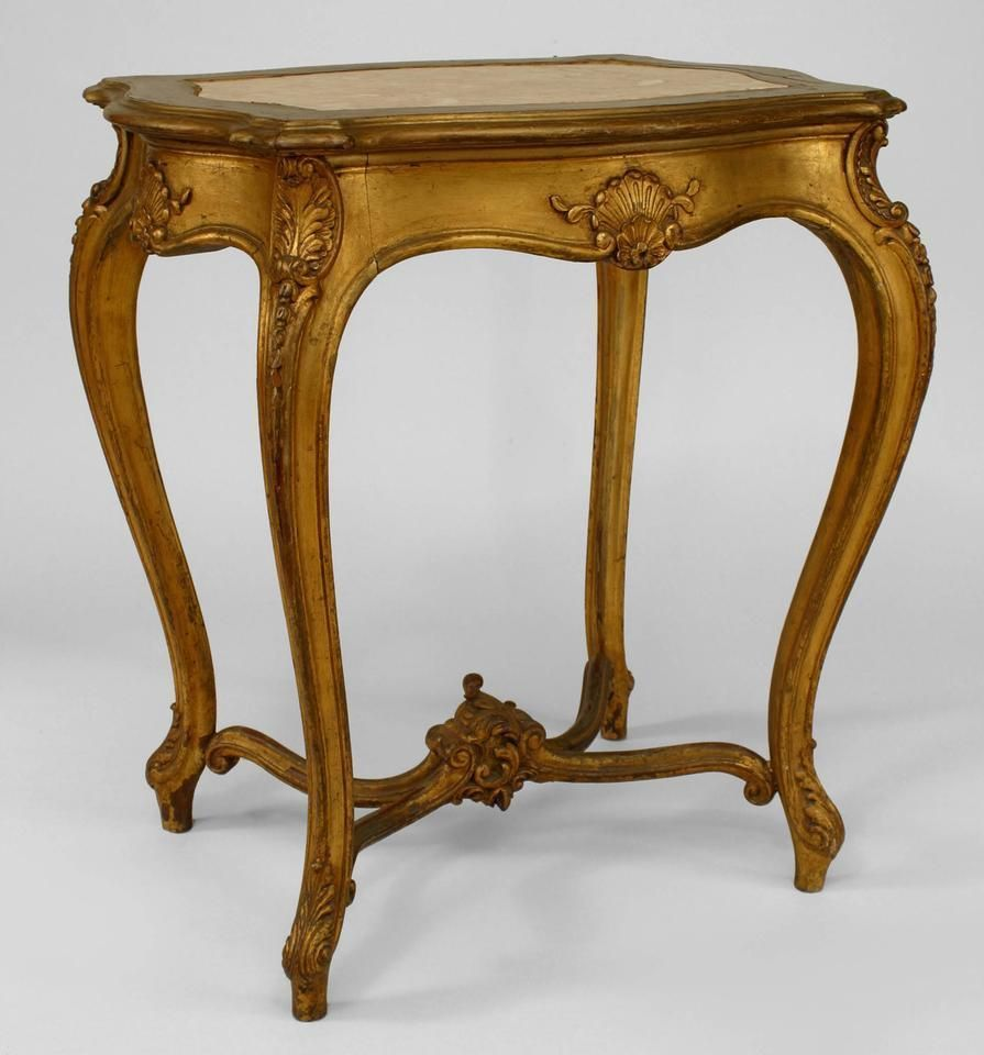 French Country Coffee Table Sets: Details About French Louis XV Style Gilt Rectangular End