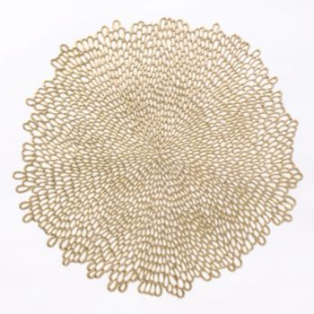Food Network Bloom Cutout Placemat Gold Placemats Placemats Gold Vinyl