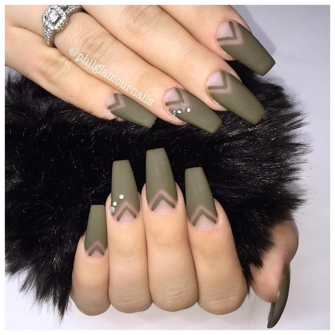 Philglamournails naled it pinterest nail nail matte nails matte nails are quite trendy right now and this trend is perfect for women who prefer their manicure to be darker and edgier prinsesfo Images