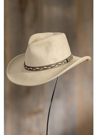 62169e2c2332c Jasper Crushable Wool Waterproof Outback Hat
