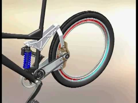 Hubless Mountain Bike Mechanism Youtube Bike Cool Bicycles