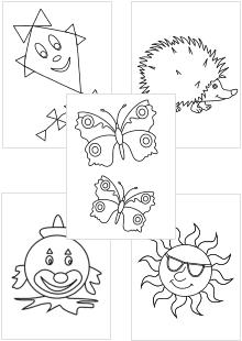 malvorlagen für kleinkinder zum ausmalen   kinder malbuch, wenn du mal buch, malvorlagen