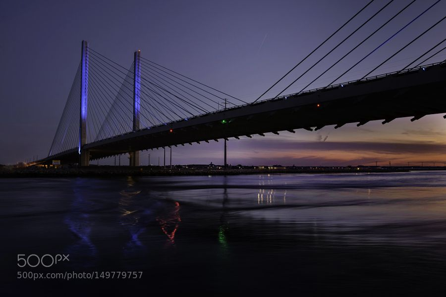Night bridge by lifter181 #architecture #building #architexture #city #buildings #skyscraper #urban #design #minimal #cities #town #street #art #arts #architecturelovers #abstract #photooftheday #amazing #picoftheday