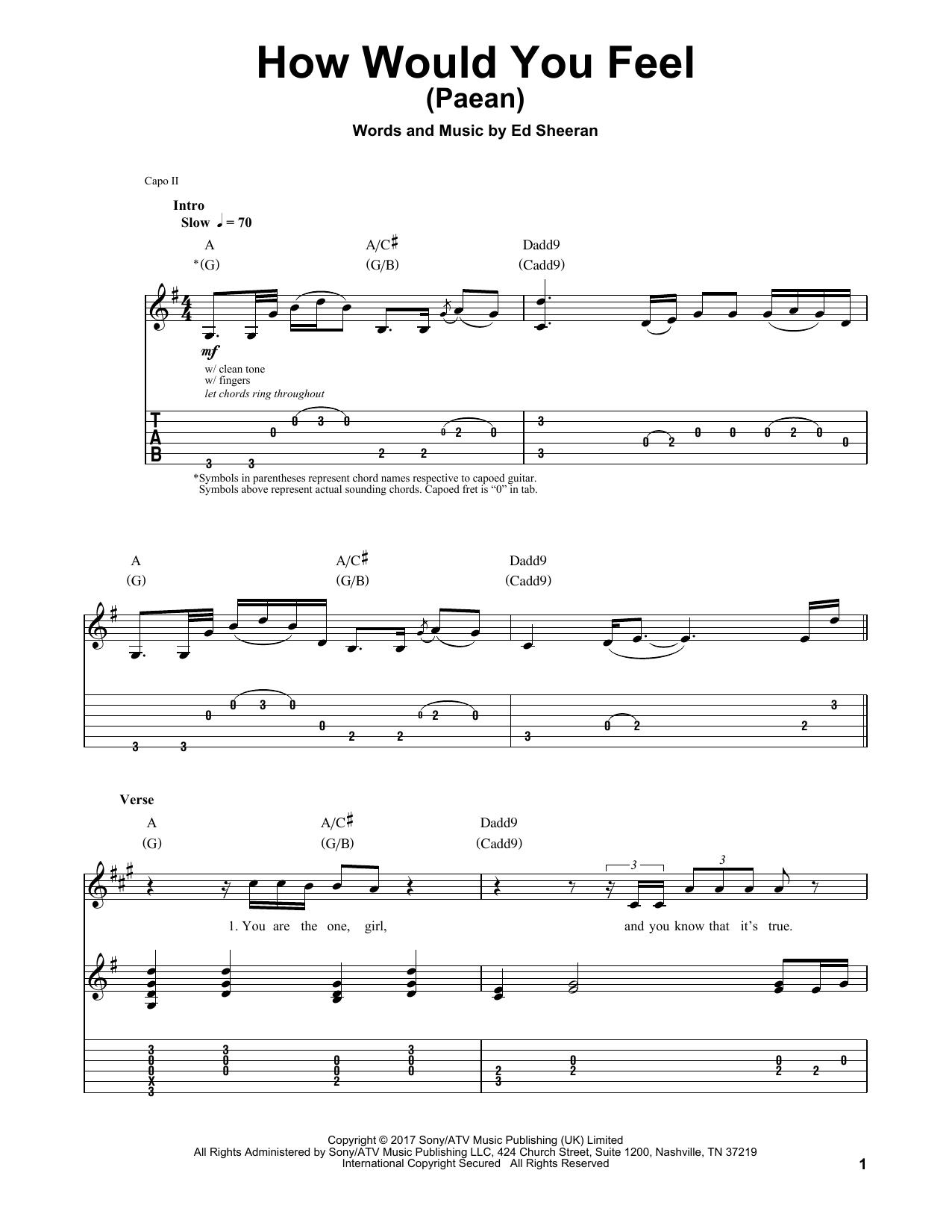 Ed Sheeran How Would You Feel Paean Pinterest Piano Sheet