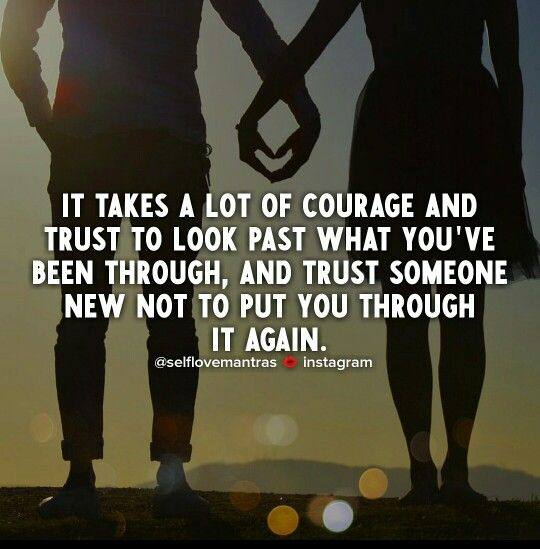 How do you begin to trust someone again