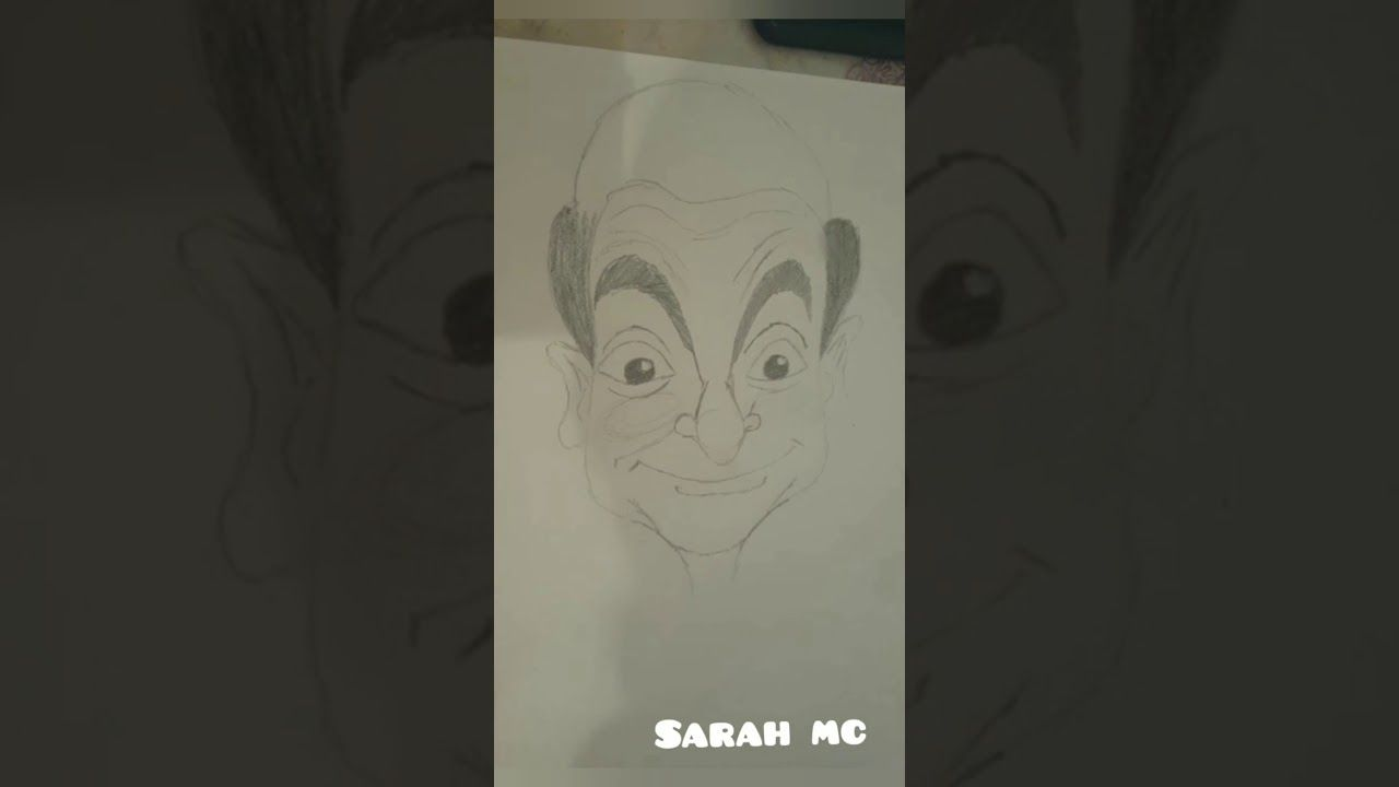 خطوات رسم كاريكاتير مستر بين Caricature Mister Bean Caricature Art Female Sketch