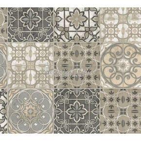 Küchen Tapete Landhaus Fliesen Ornamente Mandala | Küche | Pinterest