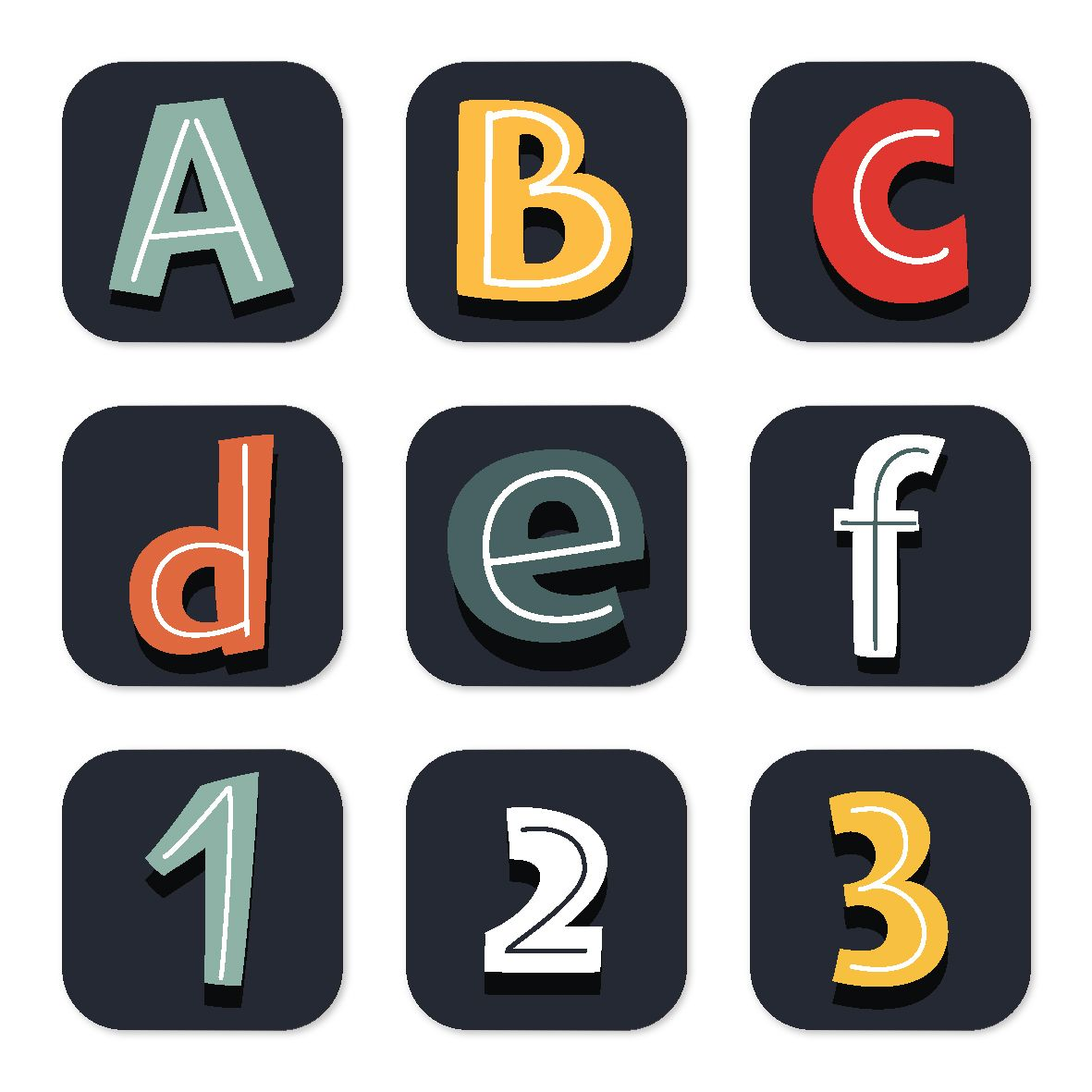 Alphabet Numbers And Symbols Sets 210 Funky Fun Letters Numbers