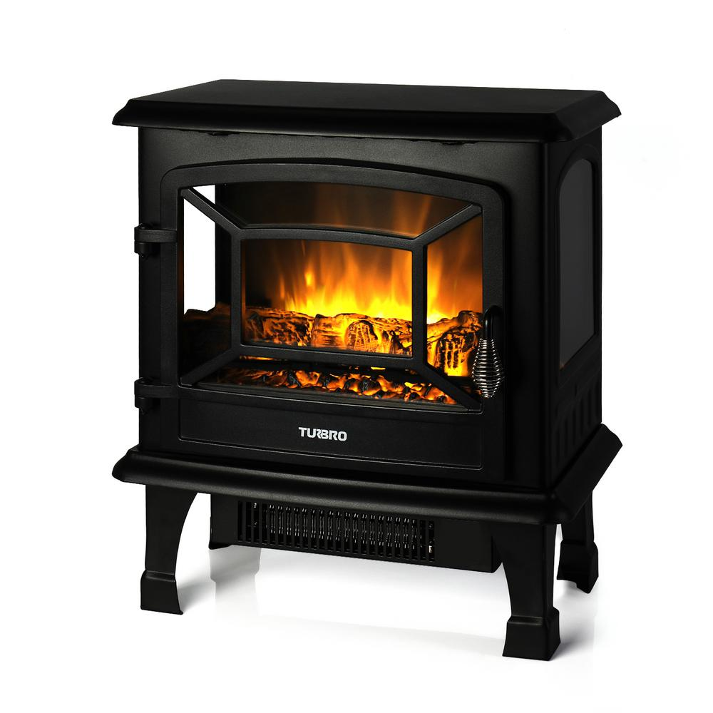 Turbro Suburbs Ts20 17 In Freestanding Electric Fireplace In Black Ts20 The Home Depot Electric Fireplace Heater Electric Fireplace Freestanding Fireplace