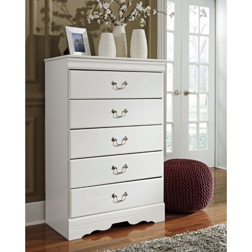 Best Signature Design By Ashley Anarasia 5 Drawer Chest Grey White Chest Of Drawers Bedroom Chest 400 x 300