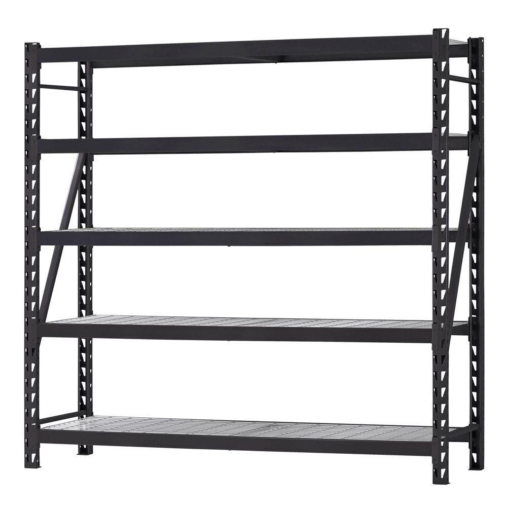 Husky 90 In H X 90 In W X 24 In D 5 Shelf Welded Steel Wire