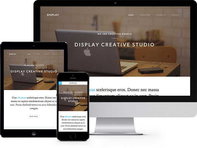 Display Free HTML5 Template using Bootstrap Free