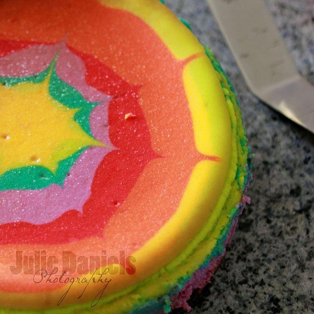 Cheesecake Rainbow Cake Recipe