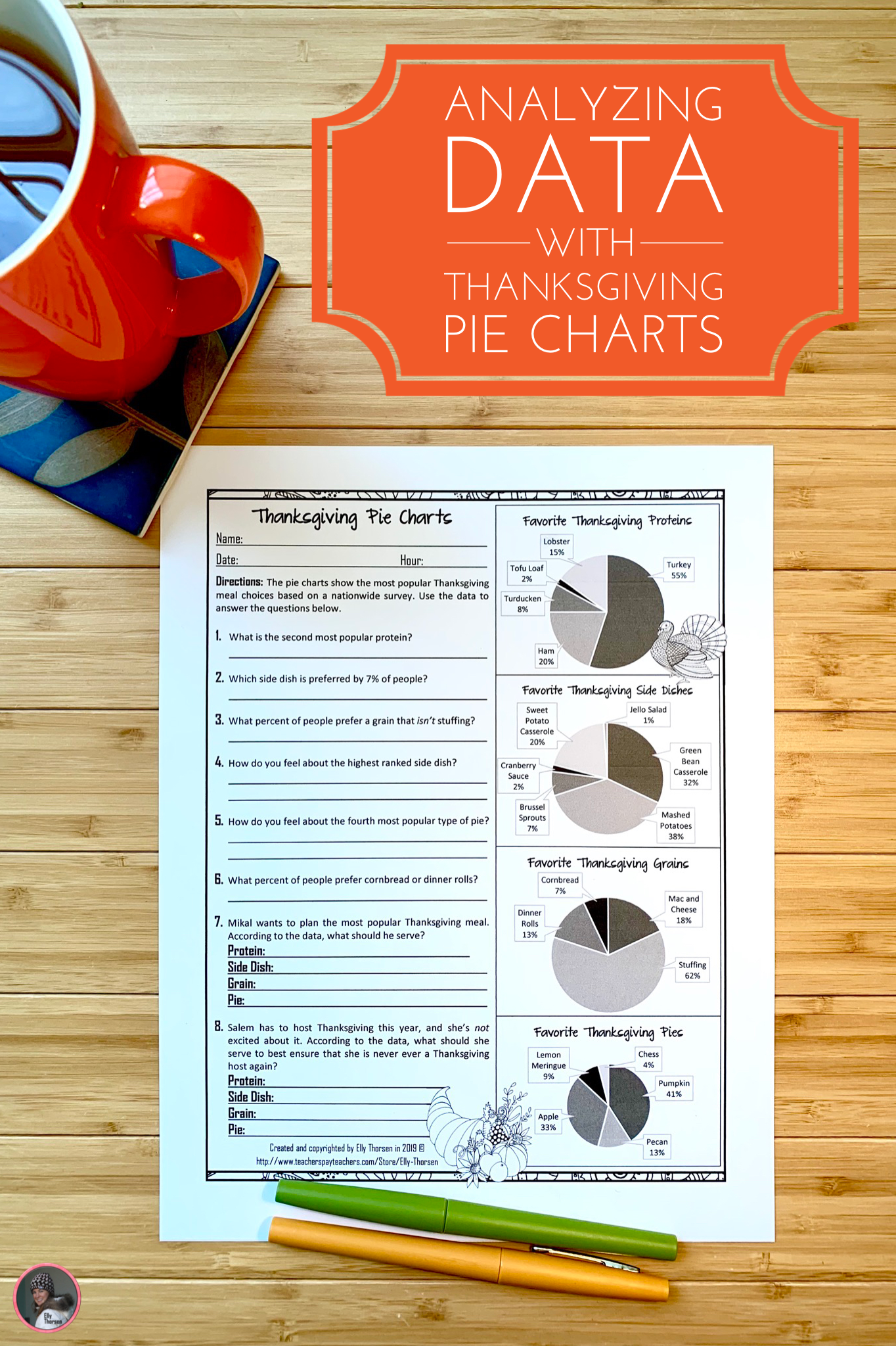 Yzing Data With Thanksgiving Pie Charts For Science Or