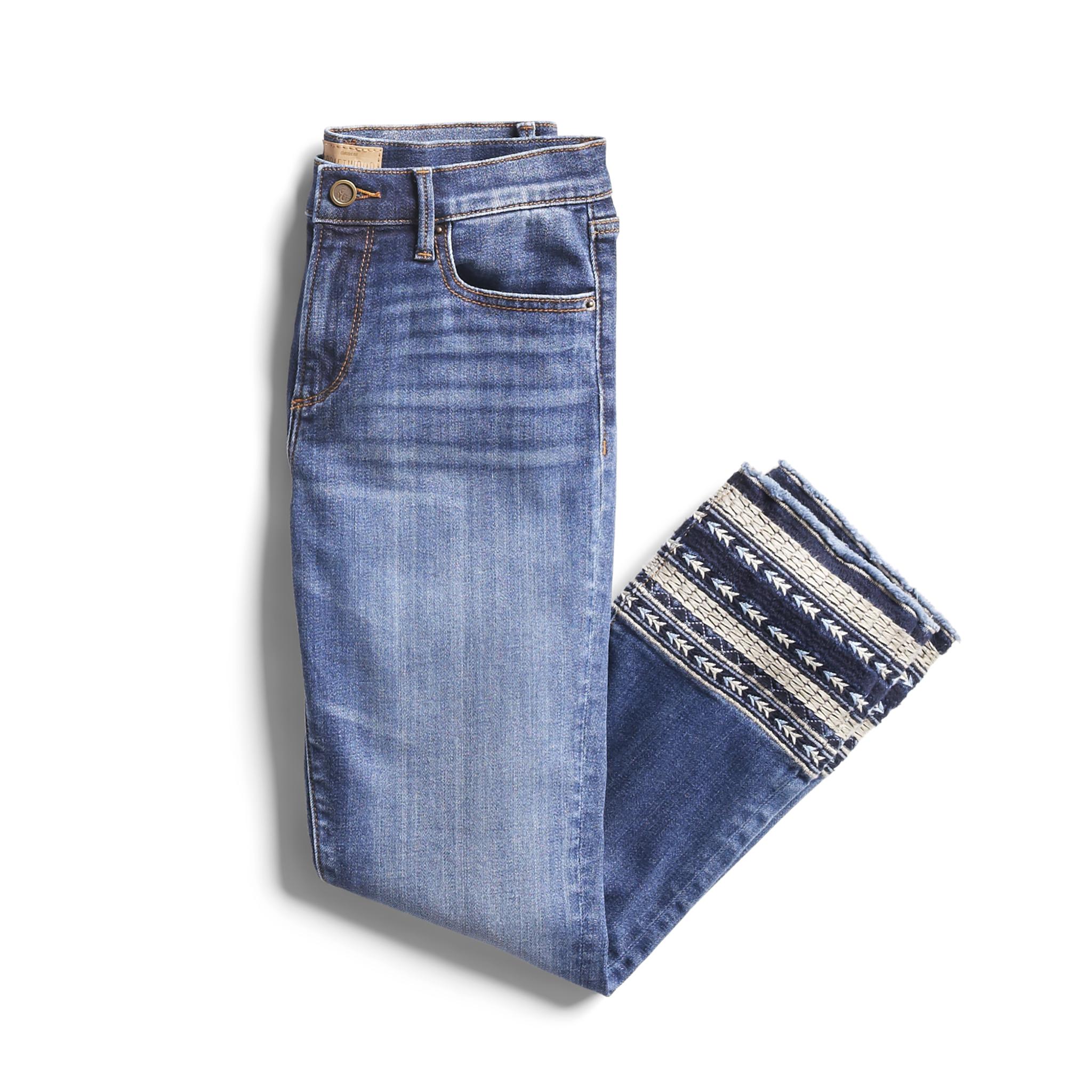 How To Hem Pants With A Cuff Spring Stylist Picks Embroidered Cuff Denim Stitch Fit Stitch Fix Outfits Stitch Fix Stylist