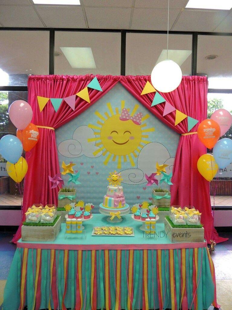 Pin By Nicole Whiteside On 1st Birthday In 2020 Sunshine Birthday Sunshine Birthday Parties Sunshine First Birthday
