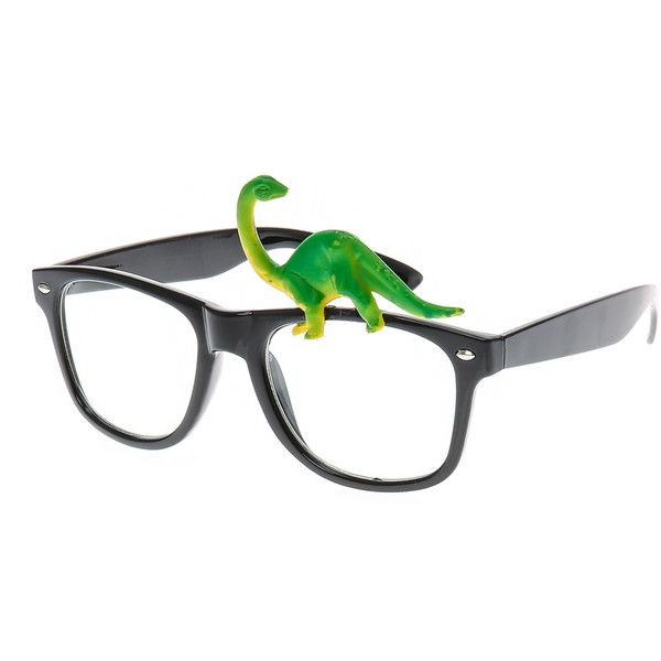 Dinosaur Round Black Frames   Claire's ($35) ❤ liked on Polyvore featuring home, home decor and black home decor