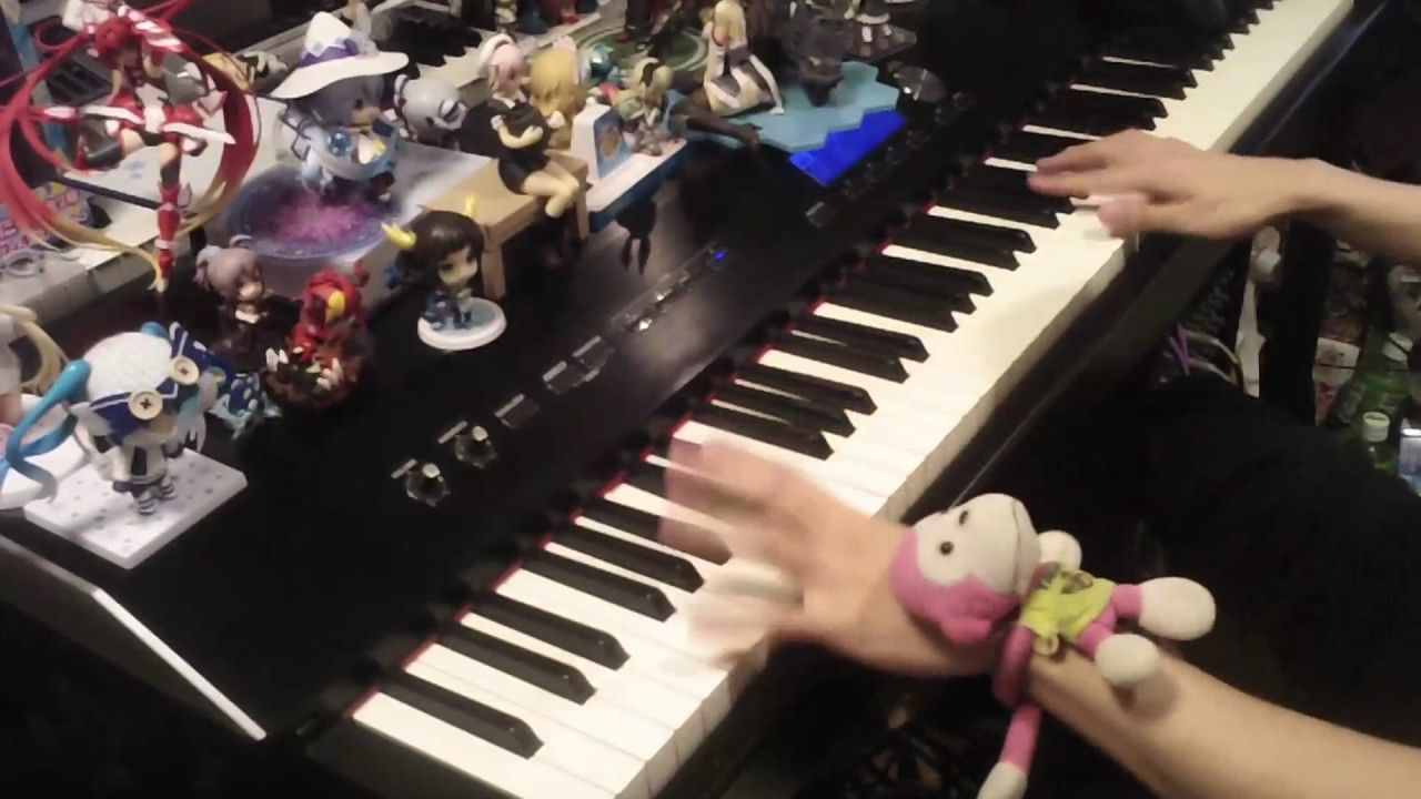 Piano cover of Cynthia's theme and Battle theme Anime